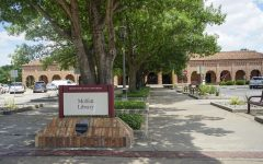 Moffett Library's entrance