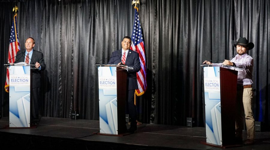 Candidates give their final remarks in the Wichita Falls Mayoral debate, Oct. 1.