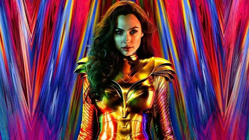 Gal Gadot poses in Wonder Woman 1984 theatrical poster.