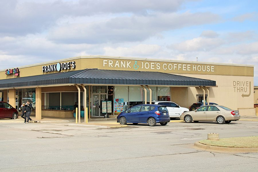 Wichita Falls-based coffee shop, Frank and Joe's Coffee House.