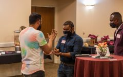 Student leaders participate in icebreaker game at President's Summit Thursday, March 18.