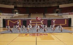 MSU Cheer performs their game-day routine.