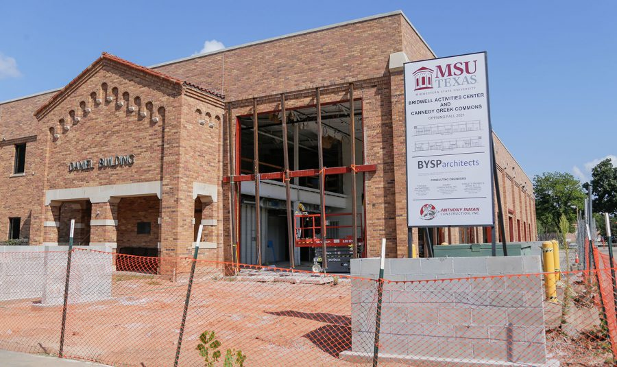 The Daniel building is receiving renovations to become the Bridwell Activities Center