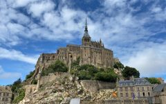 Mont St. Michel towers above its surroundings in Bretagne, France