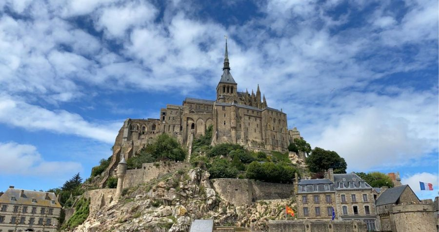 Mont St. Michel towers above its surroundings in Bretagne, France, July 10.