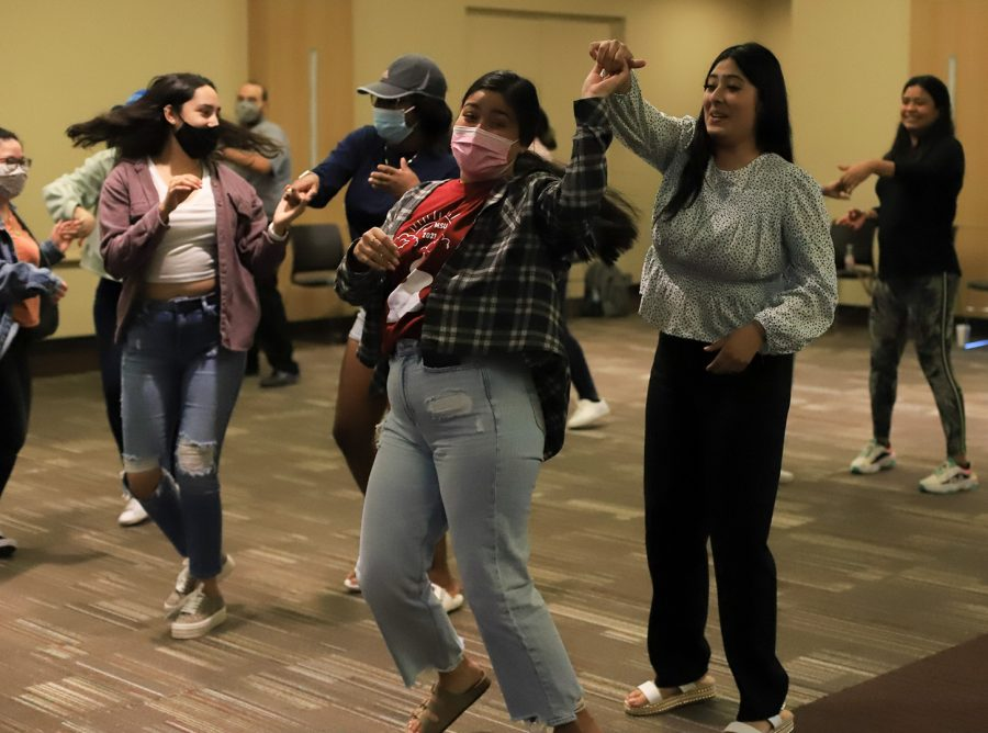 Students adding the spin to the dance after becoming more comfortable with the basics