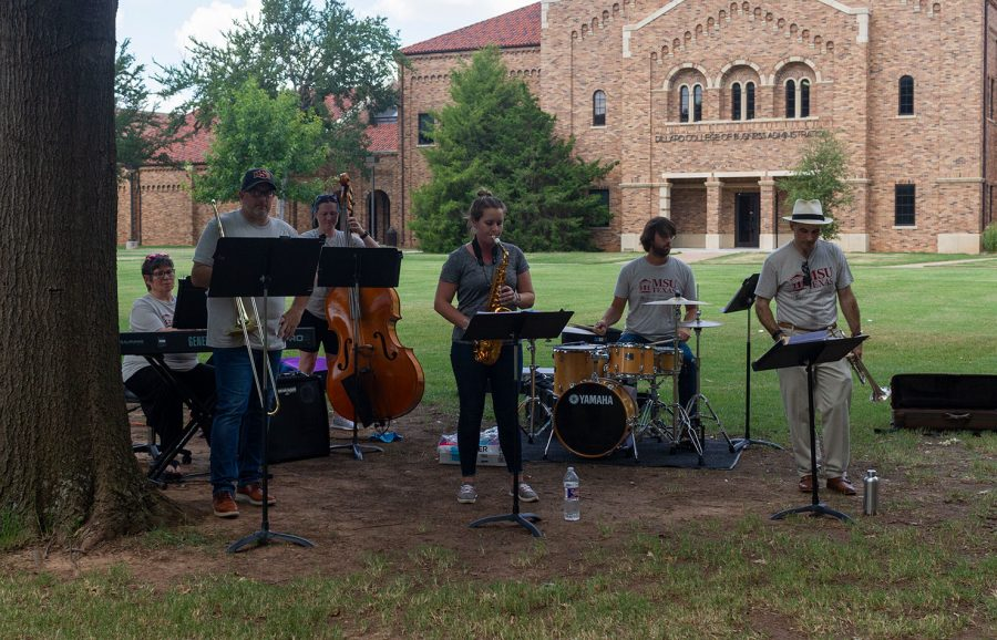 MSU Faculty Jazz Group performs at the celebration