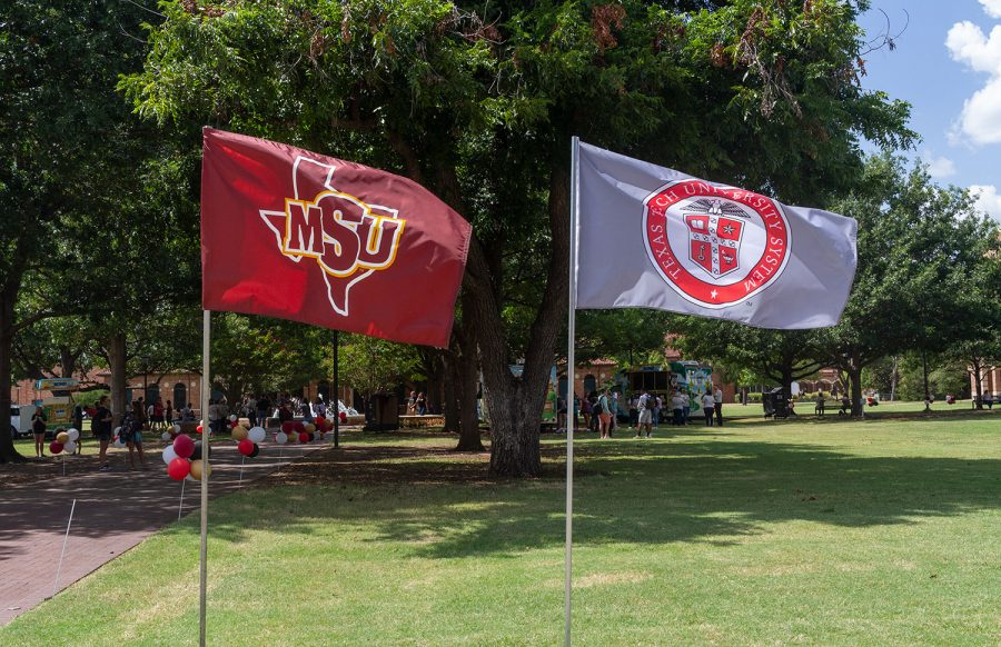 MSU students and faculty celebrate the university's joining with the TTU system
