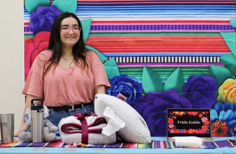 LGBTQ Stand Council member Bella Muniz says she created the self portrait event as a celebration of Frida Kahlo and Hispanic Heritage Month, but also wanted to celebrate the start of LGBTQ History Month.