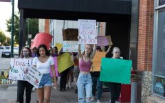 MSU Texas students join in Womens March in downtown Wichita Falls, Oct. 2, 2021.